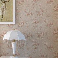 Rural floret style sitting room wall paper romantic bedroom background wallpaper  waterproof