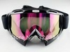 In stock Ski Snowboard Snowmobile Motorcycle Goggles Off-Road Eyewear Black&Color T815-7(China (Mainland))