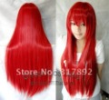 "QQ 30"" Women's Lady Fibre hair wig red straight Very chic trend queen wigs"