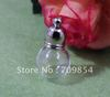 Free Shipping 5*15*10mm Ball shape Glass Wishing Bottle Rice Vial Charm Pendant+Round Cap/100pcs/lot