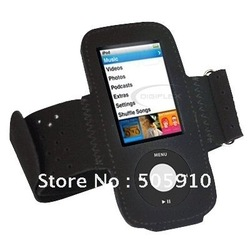 Black Sports Fitness Armband Running Gym Case Cover for iPod Nano 5th Gen 5G + Free shipping(China (Mainland))