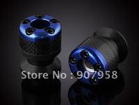 Universal Fit For Yamaha Motorcycle Blue Carbon fiber Swingarm Spools Slider TA827-3
