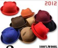 2012 New Arrival Rabbit Cap Women's Devil Horn Knitted Hat Cat Ears Knitted hat