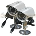 Free Shipping 2CH VGA Resolution Real-time IR Outdoor USB Notebook DVR System Kit