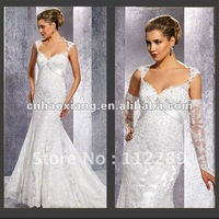 New Design Sweetheart Mermaid Delicate Lace Wedding Dress HS425