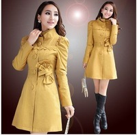 New Korean style in 2012  for autumn and winter Fashion temperament dust coat female coat
