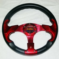wholesale price 13 inch car steering wheel 6 color high quality PU
