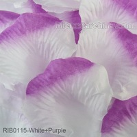 White+Purple 1000pcs Silk Rose Petals Table Flower Decoration Engagement Wedding Christmas Party Celebrations