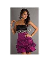 Hot 2012 New sexy Taffeta Beads Pleat Mini Homecoming Dresses Prom Gowns