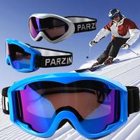 Parzin parson skiing mirror double layer antimist windproof ski eyewear goggles