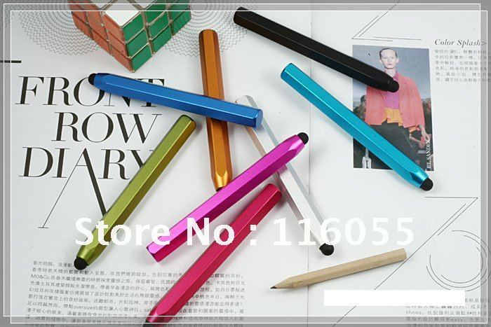 20pcs/lot Free shipping High Sensitivity Pencil Stylus Touch Screen Pen for iPhone iPad Phone(China (Mainland))