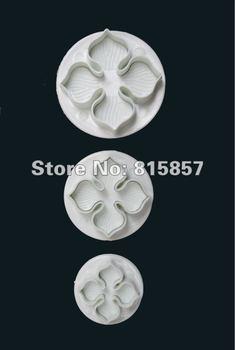 3pcs/set Plum Flower Cake Decorating Plunger Cutter Fondant Mold Sugar Craft DIY Tools.free shipping.