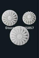 Free shipping 10 sets 3 pcs Veined Sunflower Gerbera Daisy Plunger Cutter for Sugarcraft and Fondant Cake Decorating Tools.