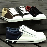 Autumn and winter canvas shoes male shoes the trend of the daily casual shoes skateboarding shoes cow muscle low-top shoes