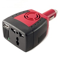 150W Watt Auto CAR 12V DC to 110v AC POWER CONVERTER INVERTER+USB Cigarette Lighter Socket for Phone PAD PSP Iphone