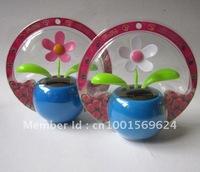 Free shipping  (100pcs/lot) flip flap solar dancing flower solar auto gift