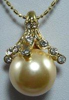 South Seas 14mm diamond-studded gold baileyi pearl pendant gift 30