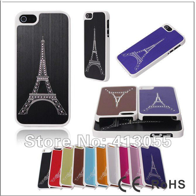 Free shipping,50pcs/lot,The Eiffel Tower Hard Back Cover Case For iphone5 5G,Hard case for new iphone5 New!(China (Mainland))