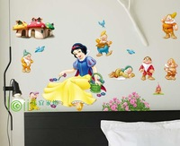 wall stickers Snow white child real cartoon decoration stickers