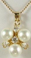 South Seas 10mm diamond white revision sallei pearl pendant gift 16