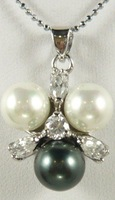 South Seas 10mm diamond multicolour sallei pearl pendant gift 13