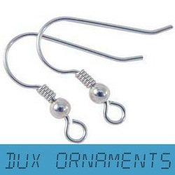 Wholesale Jewelry Findings Surgical Stainless steel Silver Earring Hooks Earring Findings Nickel Free 20mm Jewelry Connector(China (Mainland))
