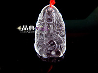 Natural white crystal bodhisattva pendant zodiac birthday gifts lovers design