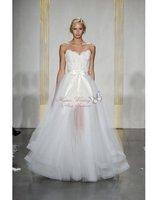 2012 Custom White A-line Sweetheart Sleeveless Sequin Tulle Court Wedding Dress Bridal Gowns Dresses