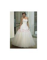 Custom Made A-Line Wedding Dresses Sweetheart Organza Appliques Bridal Gown N004