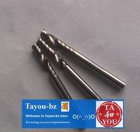 10 pcs 4x4x12 mm Acrylics PVC wood Cnc Router one Flute Spiral bits Free Shipping TYM