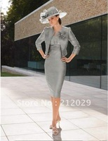 3/4-Length Sleeve Knee-length free jacket Mother of the bride dress prom party