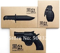 Free Shipping/Grenade /Knife /Gun Notebook/New army agenda/planer/Notepad/Memo/Paper notebook/note book/Fashion Gift/Wholesale