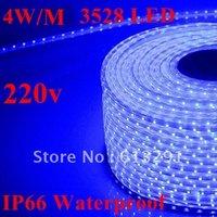 Discount Shipping + 1Set 4W/M 20M SMD 3528 LED IP66 Waterproof 220V 60LEDs/M 1200 LED Strip Colorful LED Light Strip + Controler
