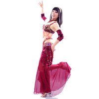 Five pieces set snake queen quality belly dance costume set clothes