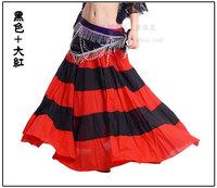 Belly dance skirt color block dress single dress expansion skirt belly chain