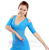 Belly dance clothes top short-sleeve dance upperwear indian dance leotard