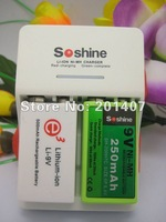 2013 new arrived  soshine   9 Volt Li-ion Charger smart  battery charger free shiping cost