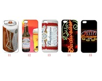 Unique Newest Designs!!wholesale 10PCS budweiser hard white case back cover for iPhone 4 4th 4G