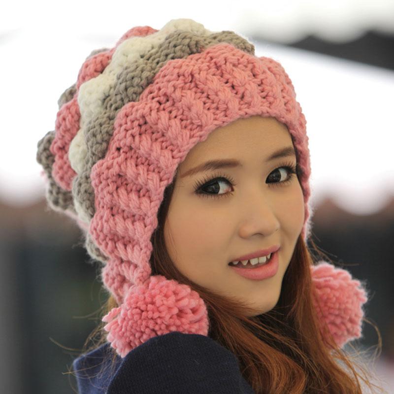 Вязание крючком зимней шапки для девушки