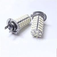 Free shipping 2pcs Car Fog lamps  H7 102 LED 3528 SMD Xenon-White Bulbs Fog Light Bulb