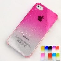 3D Water Drop Dripping Ultra Thin Hard Case Cover For iPhone 4S 4 Pink