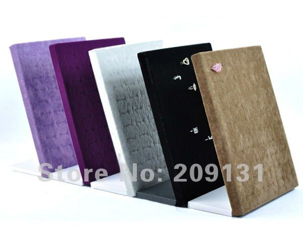 50 slot High Quality velvet Jewelry Ring Displays Stand + free shipping(China (Mainland))