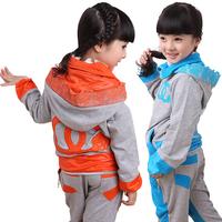 Female child autumn children's clothing child 2012 autumn school wear 100% cotton sports casual set