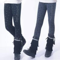 Children's clothing child female child legging thickening plus velvet elastic 100% cotton winter legging winter