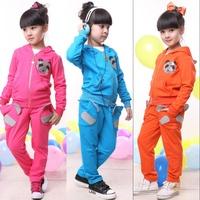 Children's autumn set 2012 sports set 100% cotton clothing