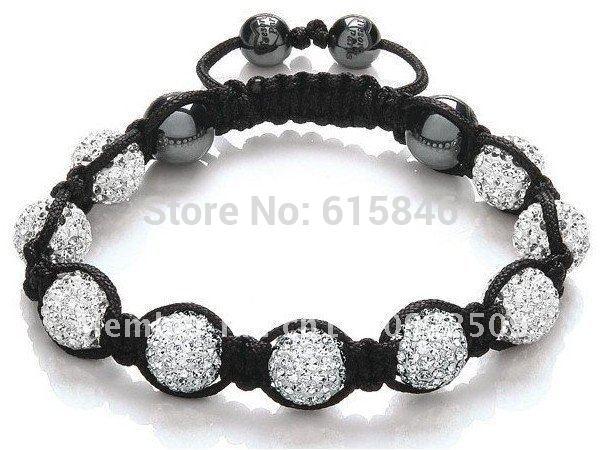 Shamballa Jewelry Bracelets For Women New Shamballa Bracelets Micro Pave CZ Disco Ball 10mm Bead Shamballa Bracelet SHB001(China (Mainland))