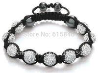 Shamballa Jewelry Bracelets For Women New Shamballa Bracelets Micro Pave CZ Disco Ball 10mm Bead Shamballa Bracelet SHB001