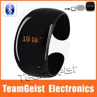 10pcs/lot Fashion Black Ladies Bluetooth Bracelet watch with Time Display (Call/Distance Vibration, Caller ID) Answering Phone