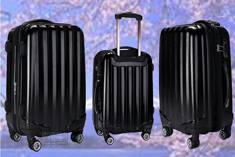 """Free shipping frame ABS+PC 24"""" luggage case rolling luggage suitcase draw bar box traveling case 1 PC(China (Mainland))"""