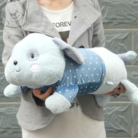 Blue and white doll lyrate rabbit derlook sleeping pillow cushion Large pillow
